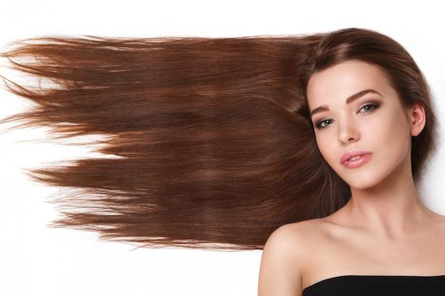 Donna con bei capelli