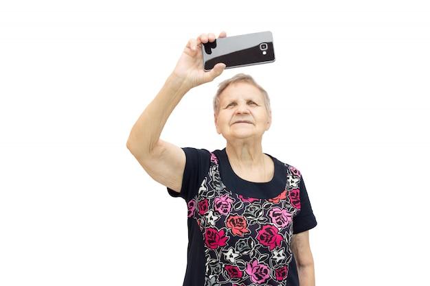 Donna con un telefono in mano