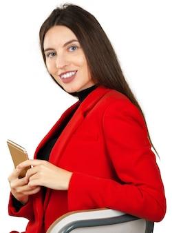 Donna d'affari utilizzando uno smartphone