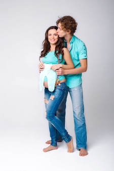 Donna incinta con suo marito