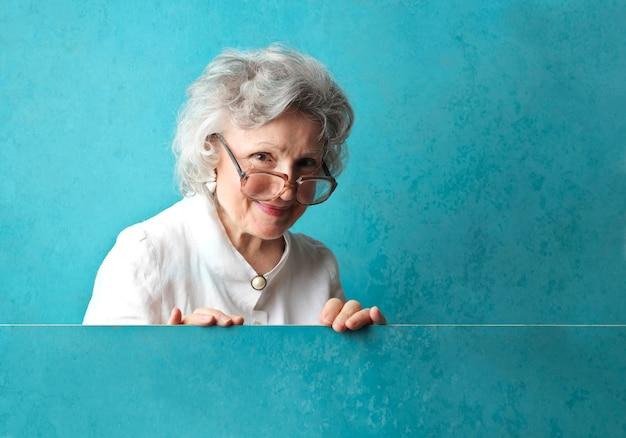 Donna piuttosto anziana