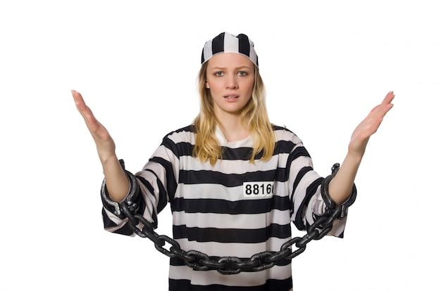 Donna prigioniera isolata