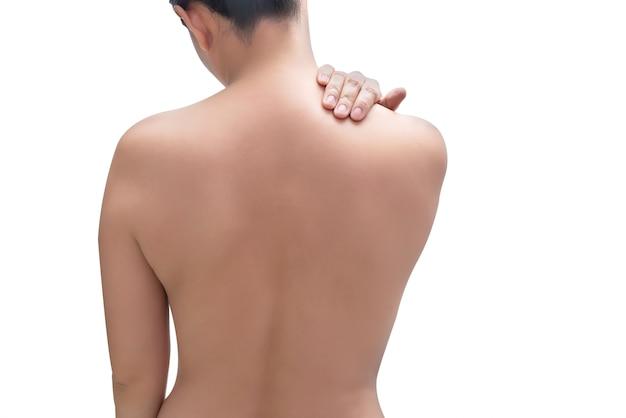 Donne con dolore alla spalla
