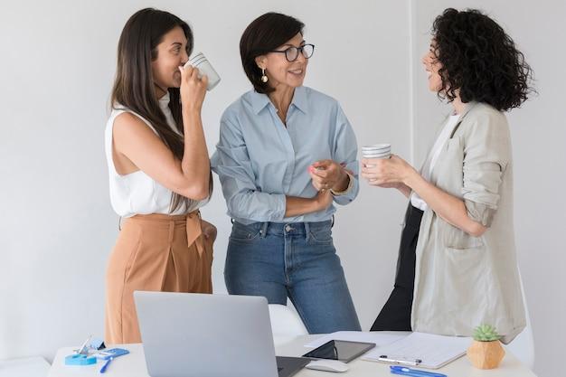 Donne d'affari che hanno una chat