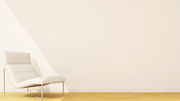 Dormeuse in studio o soggiorno e spazio per opere d'arte - rendering 3d