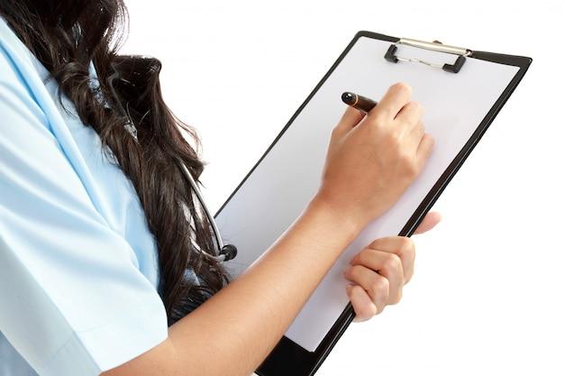 Dottoressa con appunti