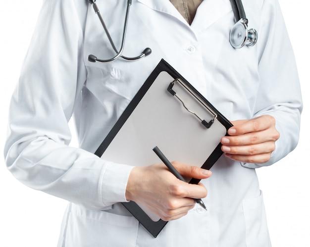 Dottoressa in uniforme appunti
