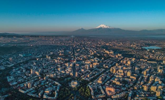 Drone shot di yerevan