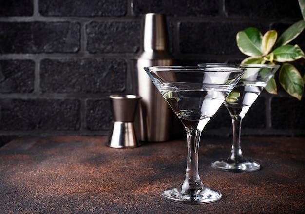 Due bicchieri di martini cocktail