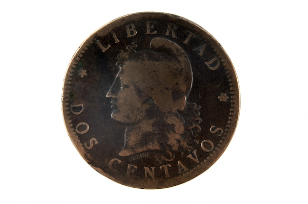Due centavos 1894 moneta dell'argentina