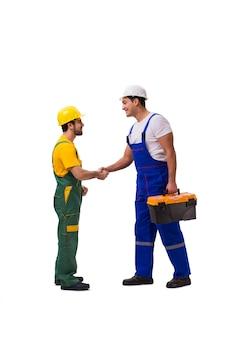 Due lavoratori isolati