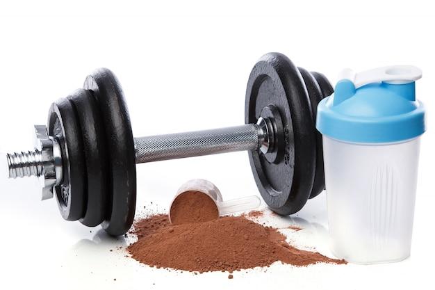 Dumbell e proteine in polvere