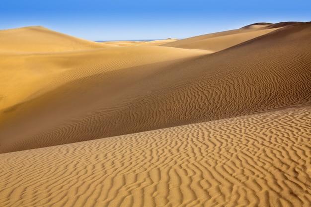 Dune di sabbia del deserto a maspalomas gran canaria
