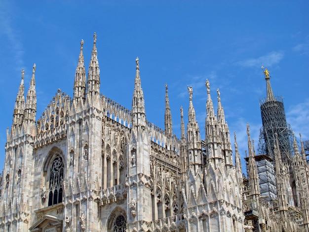 Duomo - la cattedrale di milano, italia