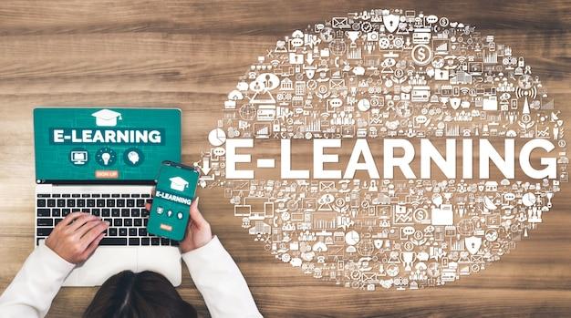 E-learning per studenti e università concetto