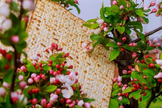 Ebraismo e religiosi su matza ebraica in alta quota