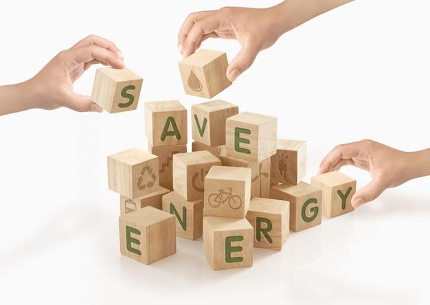 Eco & go concetto verde su sfondo isolato