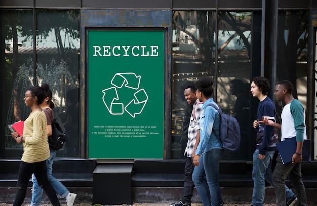 Ecologia ambientale sostenibile natura riciclare il pianeta