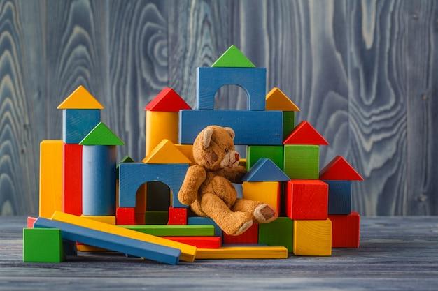 Edifici da blocchi di capretto