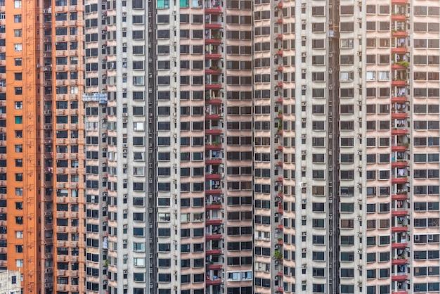 Edifici della città di hong kong, grattacieli, cina