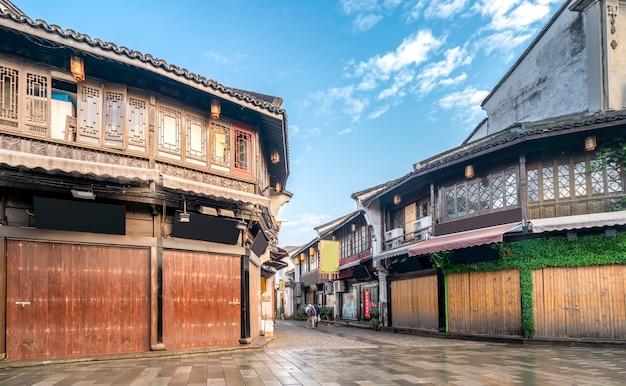 Edifici residenziali antichi del ponte di gongchen a hangzhou, provincia di zhejiang
