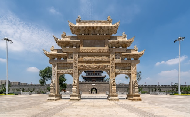 Edificio della città antica di qingdao jimo
