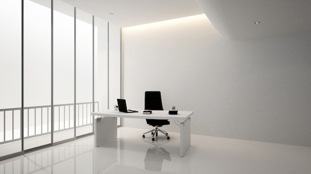 Edificio per uffici sala manager o sala pesidence, 3d renderin