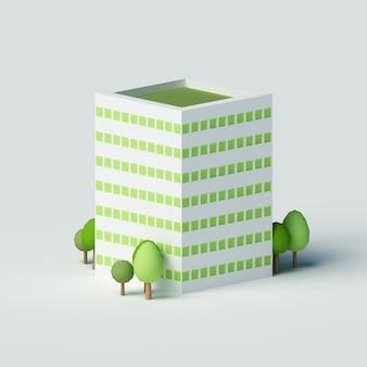 Edificio residenziale a molti piani.