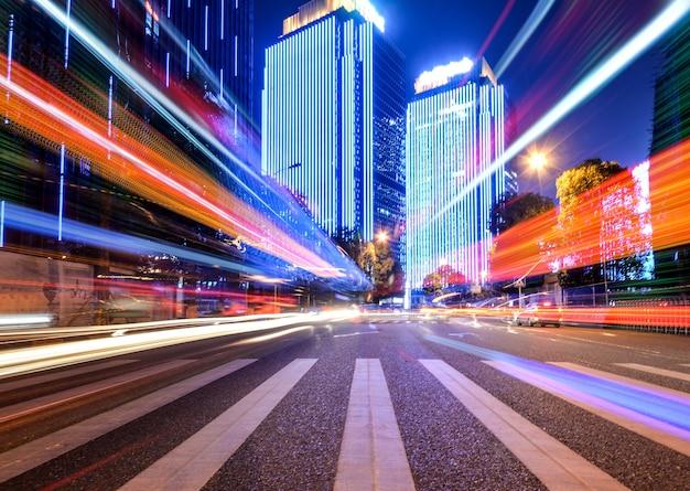 Effetto della velocità di movimento con night city