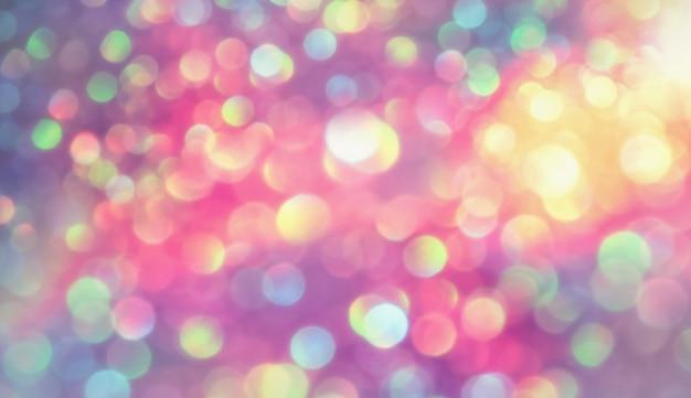 Effetto di illuminazione bokeh glitterato colorfull sfondo sfocato astratto per compleanno, anniversario, matrimonio, capodanno o natale