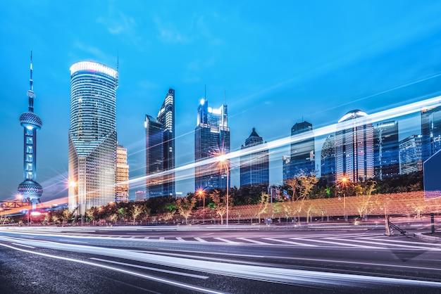 Effetto velocità di movimento con city night