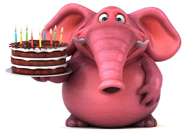 Elefante di divertimento - illustrazione 3d
