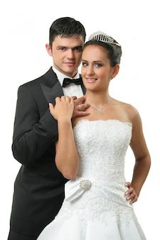 Elegante coppia di sposi