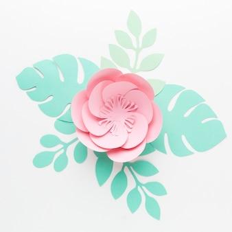 Elegante decorazione in carta floreale