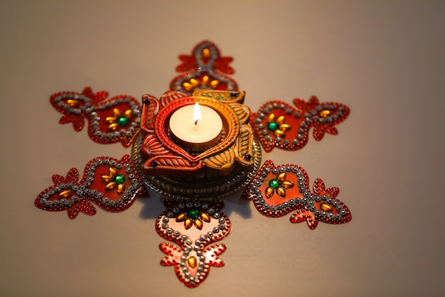 Elegante lampada diwali, festival indiano diwali