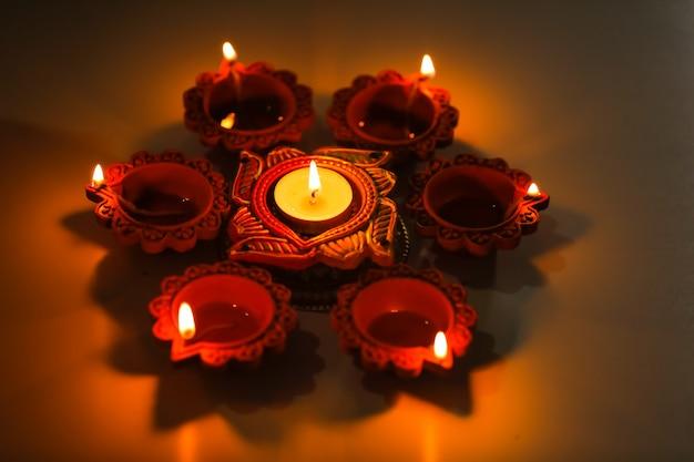 Elegante lampada diwali