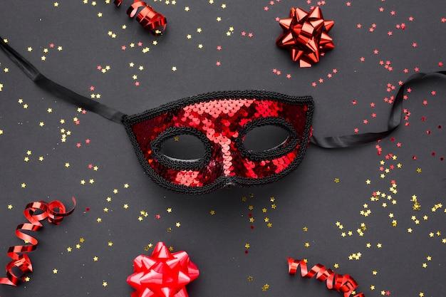 Elegante maschera di carnevale con glitter