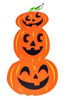 Eleganti decorazioni di halloween. zucche decorative