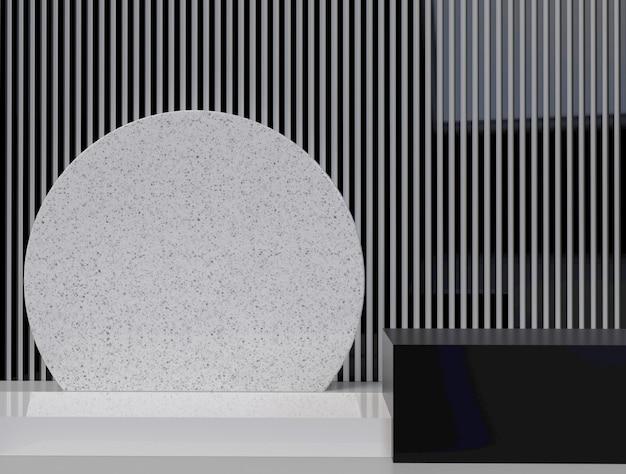 Elementi di design minimale di forma geometrica