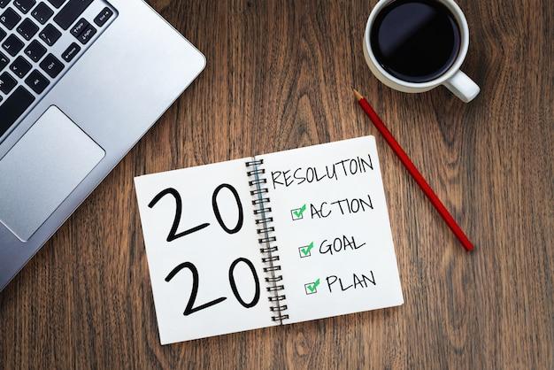 Elenco degli obiettivi per la risoluzione del nuovo anno 2020 impostazione degli obiettivi