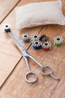 Elevato angolo di forbici con navette per macchine da cucire