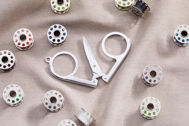 Elevato angolo di forbici su tessuto con navette per macchine da cucire