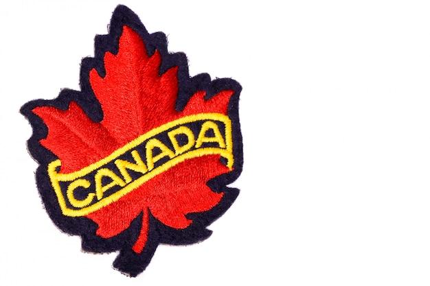 Emblema di foglia d'acero rosso canada