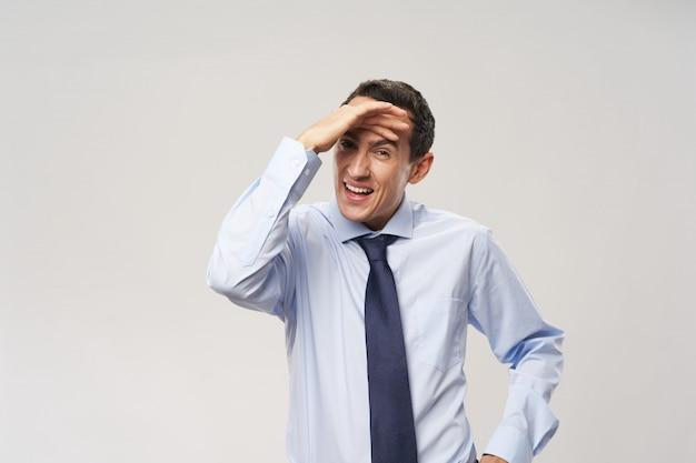 Emozioni di uomo d'affari