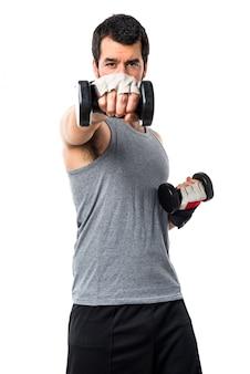 Equipaggiamento sollevamento pesi potenza fitness fitness