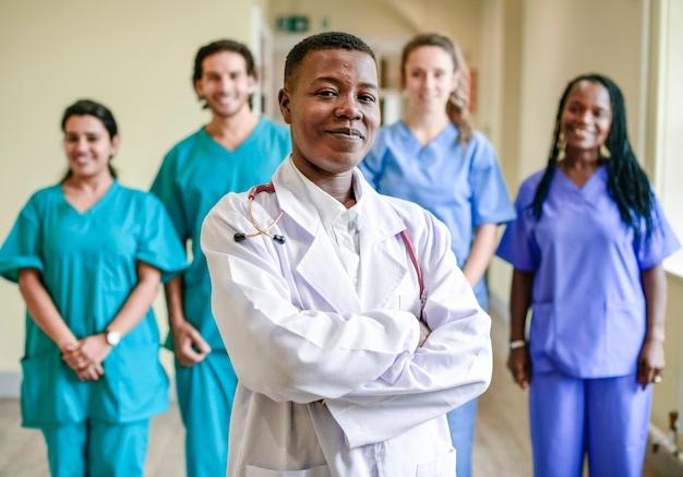 Equipe medica in un ospedale