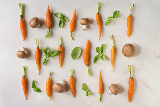 Erbe aromatiche e carote