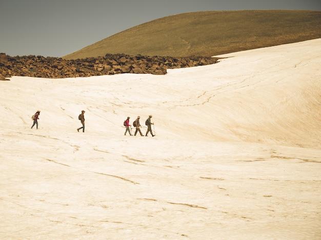 Escursionisti in cima