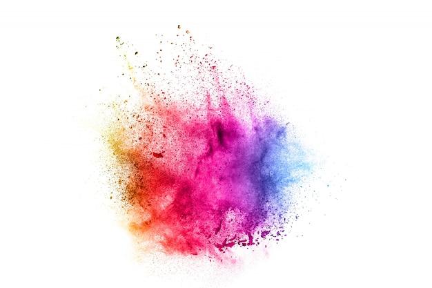 Esplosione colorata per polvere happy holi.