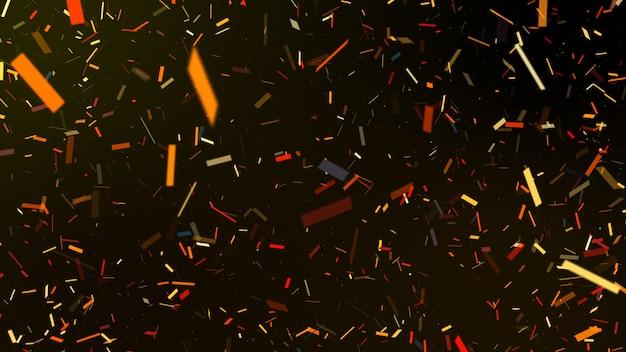 Esplosione di carta colorata festa coriandoli e cadere. sfondo nero.